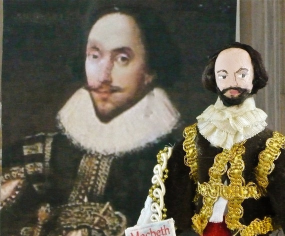 Art Doll William Shakespeare Literary Collectible