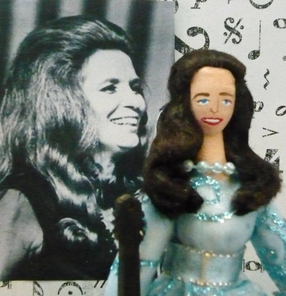 June Carter Cash Doll Miniature Country Music Fan Gift