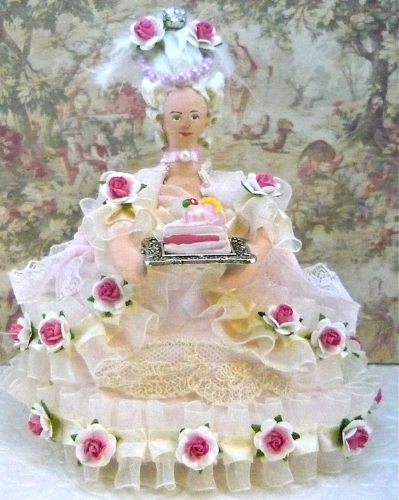 Marie Antoinette Doll Let Them Eat Cake Art Miniature