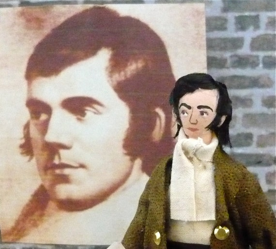 Robert Burns Doll Poet of Scotland Miniature Art