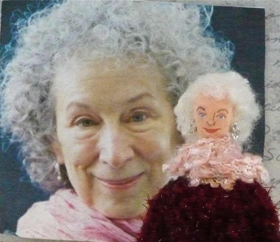 Margaret Atwood Doll Canadian Writer and Author in Miniature