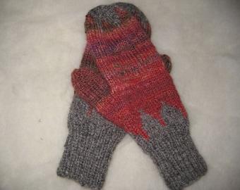 Handspun Handknit Wool Mittens