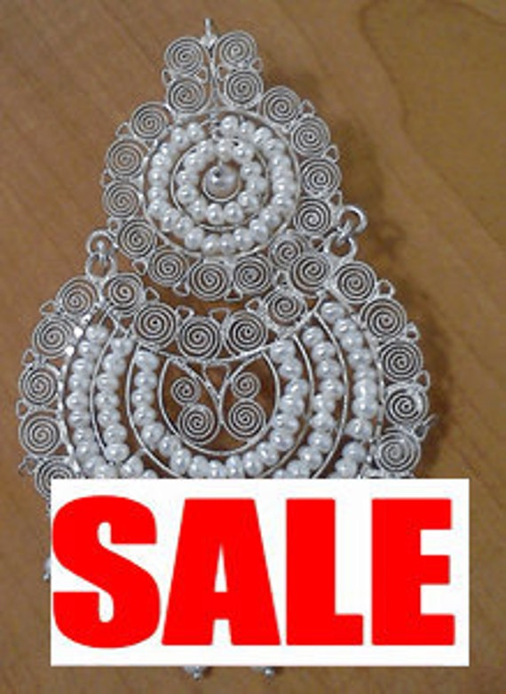 SALE  Oaxacan Bridal Earrings.  Gorgeous