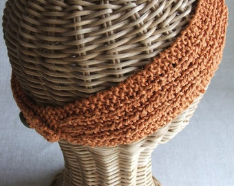 Farrow Rib Headband .pdf knitting PATTERN, featuring hemp, linen or cotton yarn