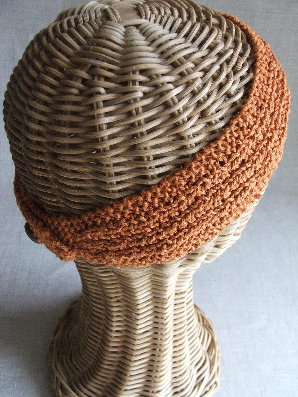 Farrow Rib Headband .pdf knitting PATTERN featuring hemp