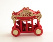 Vintage Circus Train Car Lion Christmas Lightcover Ornament