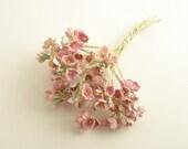 18 Vintage Flowers on Picks Stems Flowers Millinery