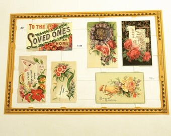 Paper Scraps Die Cut Victorian Gift Tags Made in England