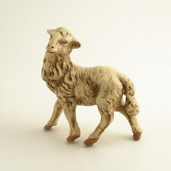 Vintage Lamb Sheep Figurine Christmas Italy