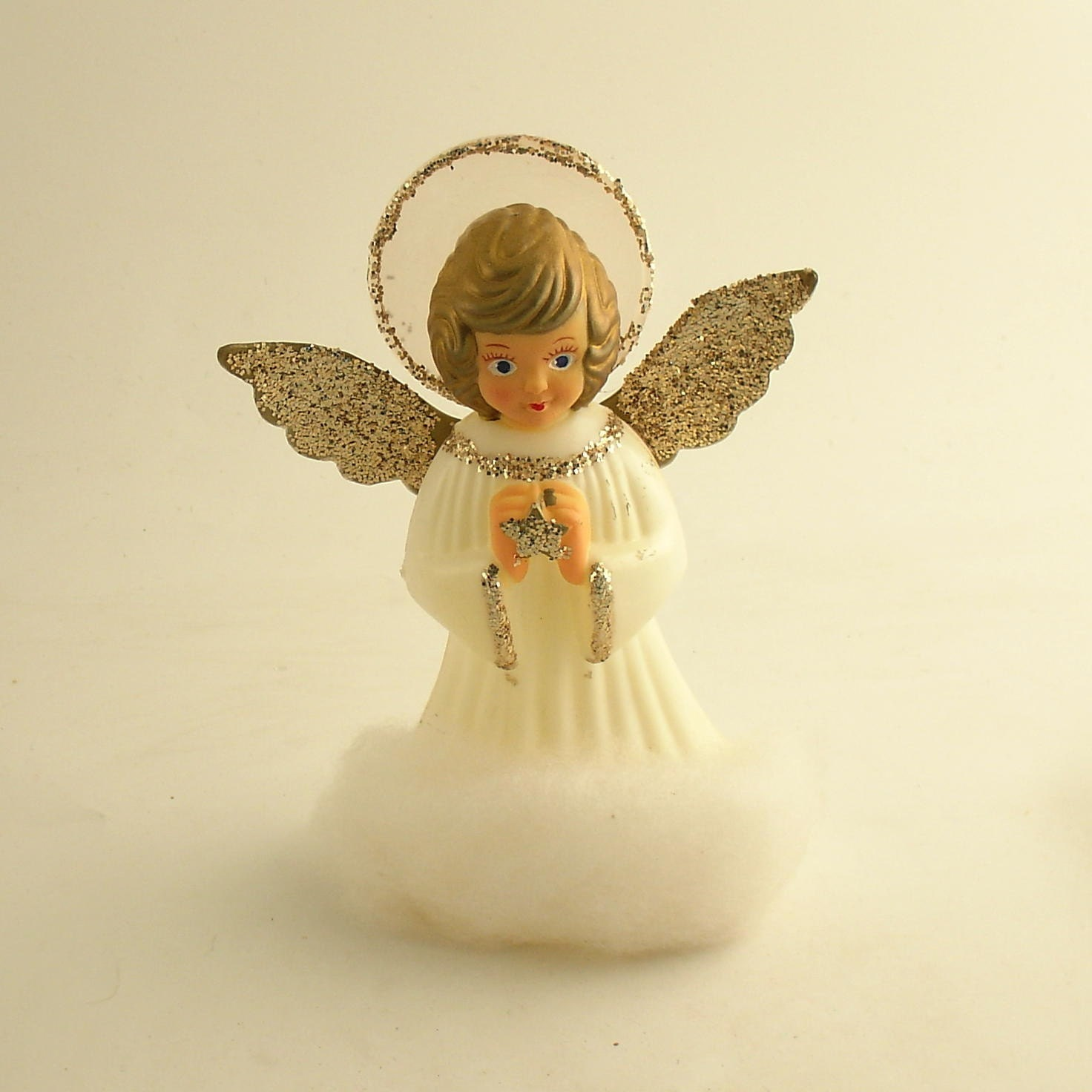 Small Angel Christmas Tree Topper: Vintage Christmas Tree Topper Doubl Glo Angel