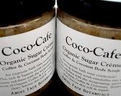 Coco-Cafe Sugar Creme Body Scrub - Organic Coconut and Coffee Emulsifying Body Scrub