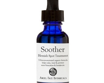 Blemish Soother Organic Acne Spot Treatment Serum w/ Tamanu, Frankincense, Lemon Myrtle - Prevent, Calm and Speed Healing for Breakouts 1 oz