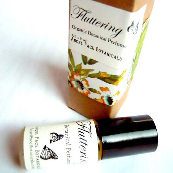 Fluttering - Organic Botanical Perfume of Orange Blossom - Jasmine Sambac and Mandarin - Seen in Etsy Finds Luxury Shopping Guide
