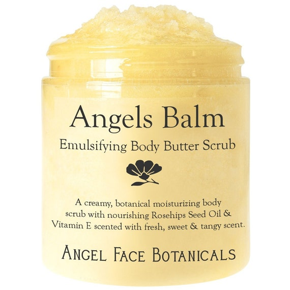 Angels Balm - Emulsifying Body Butter Scrub - Naturally Scented with Pure Essential Oils - for Soft and Nourished Skin