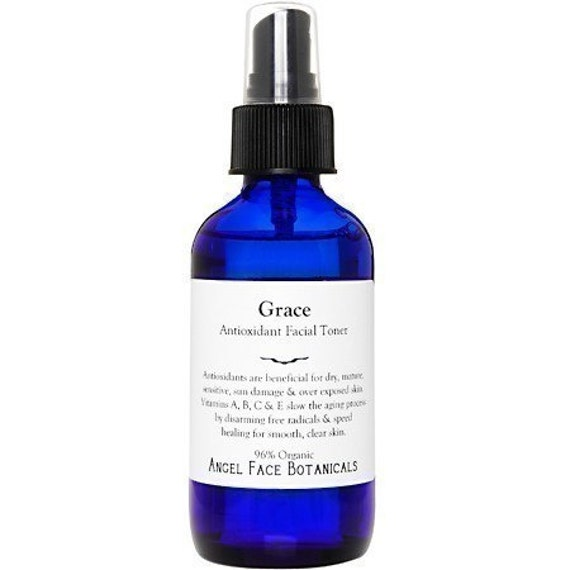 Grace Antioxidant Organic Facial Toner - Speeds Cellular Renewal For Smooth Clear Skin - All Skin Types - 2 oz Mist