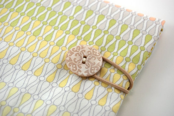 Kindle Sleeve, Kindle Cover, Kindle Accessories, white yellow green peach