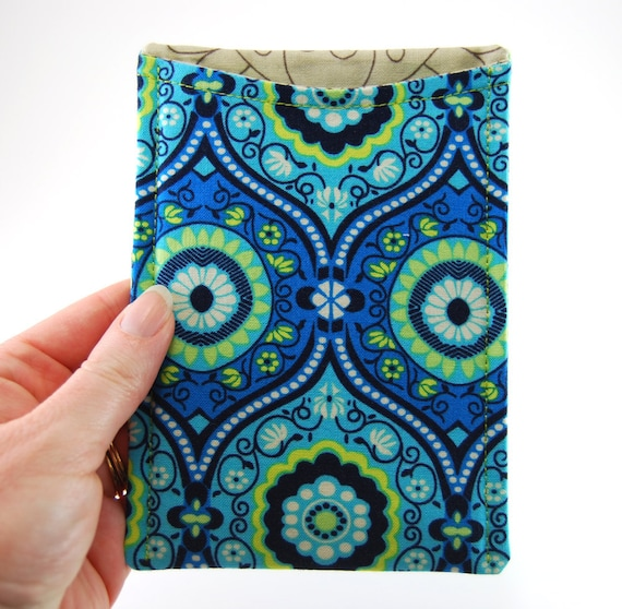 Passport Pocket, Passport Cover, Passport Holder for Travel, blue yellow - green