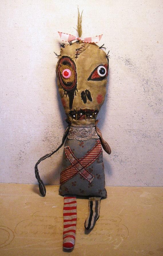 Handmade Art Doll Monster Jessamyn
