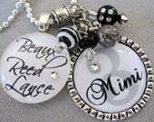Grandma Necklace -Personalized Children's Names-- Mother Necklace, Grandmother, Nana, Grammi - Purse Clip, Number, Initial