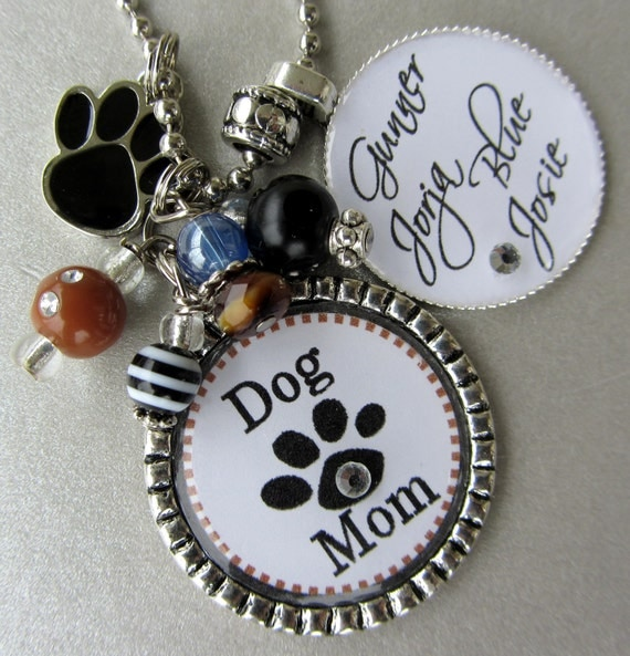 Dog Lover PERSONALIZED NAME Silver Pendant Necklace OR Keychain- Animal Lover, Pet Rescue, Dogs Names, Remembrance, Forever in heart