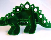 Green Stegosaurus Knitting Needle Gauge