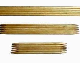 Bamboo Double Point Needles - Size 10