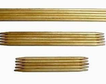 Bamboo Double Point Needles - Size 0 or 1