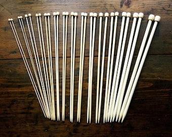 9 Inch Bamboo Knitting Needle Set - Size 1 through 3