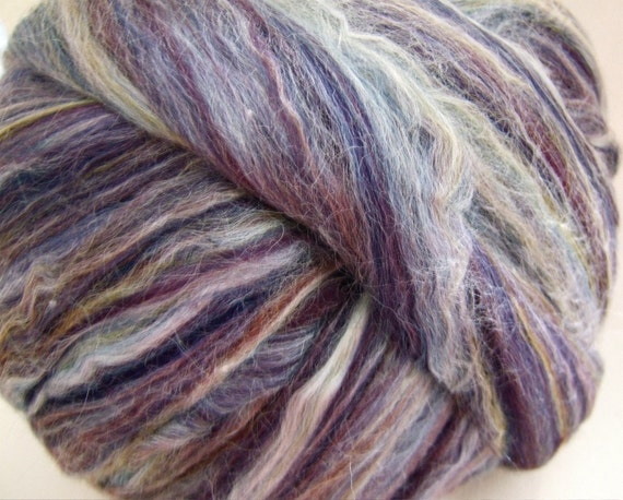 Concord - Merino and Tussah Silk Blend Roving - 3 Ounces