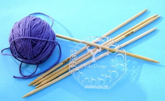 Knitting Needle Stitch Gauge : KNITTING NEEDLE GAUGE