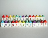 Made to Order CUSTOM ALPHABET A to Z rainbow Roygbiv