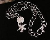 Silver Choker necklace eagle pendant mens womens