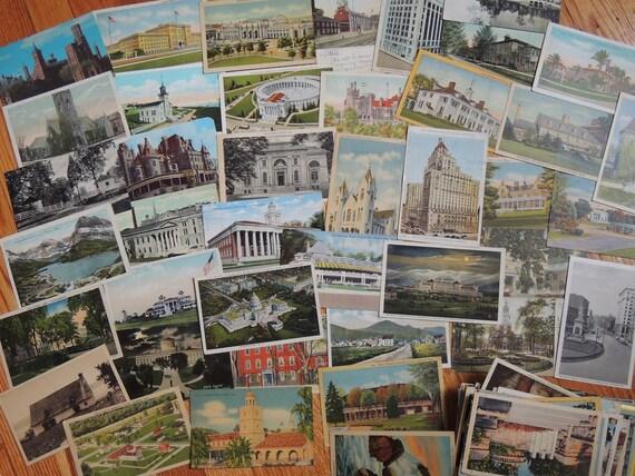 135 Vintage Postcards