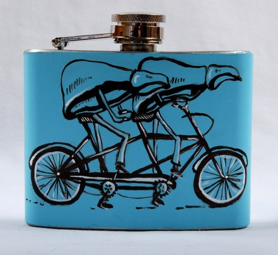 HANDPAINTED Livers about Town Tandem Bicycle