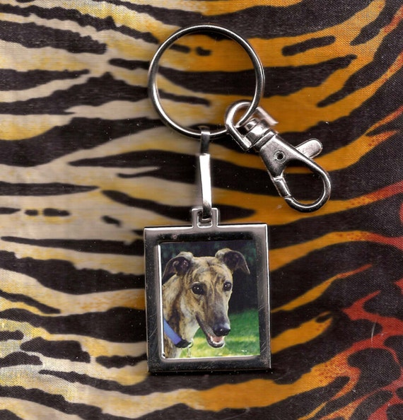 Square Photo Keyring Keychain - Show Off Kids or Pets