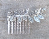 Silver leaf haircomb