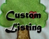 Custom Tree Applique - RESERVED LISTING