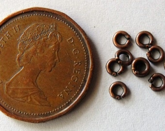 3mm Jump Rings 20 Gauge Antique Copper Plated, Pack of 500  *CLEARANCE*