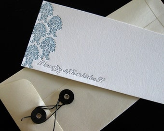 Letterpress Pee Wee Herman Card