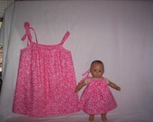 Moving Sale!!! Twin Child AND Doll Dresses - will fit Child Size 5