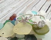 SAND DOLLAR Ring--Fine Silver and Sterling