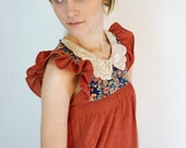 RESERVED. Bohemian Floral Vintage Day Dress
