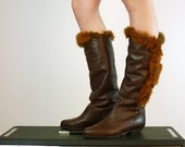 Riding Boots - Fox Fur Boots - Size 6 - 6.5