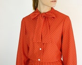 RESERVED. Swiss Dotted Vintage Secretary Dress