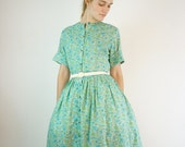 1950s Dress / 50s Dress by Carol Brent