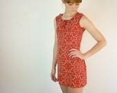 Country Western Dress / Red Paisley Mini Dress - jessjamesjake