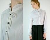Gray Secretary Dress / Two Tone Vintage