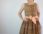 RESERVED. 1940s Party Dress / 40s Cotton Dress