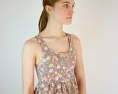 1990s Mini Dress / 90s Floral Grunge Dress