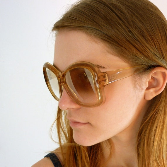 Vintage 1970's Oversized Copper Sunglasses